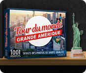 La fonctionnalité de capture d'écran de jeu 1001 Puzzles Tour du monde Grande Amérique