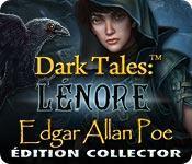 La fonctionnalité de capture d'écran de jeu Dark Tales: Lénore Edgar Allan Poe Édition Collector